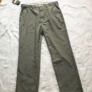 Haggar Men's Dress Pants in Grey Micro Windowpane